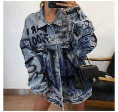 Oversized Denim Jacket Outfit, Jean Jacket Outfits, Denim Outfit, Style Outfits, Mode Outfits, Grunge Outfits, Fashion Outfits, Grunge Fashion, Fashion Ideas