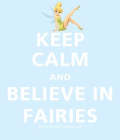 BELIEVE IN FAIRIES.
