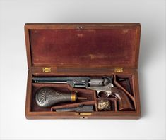 Gustave Young (1827–1895), a German-born craftsman, engraved firearms with intricate and elaborate ornament for Colt in Hartford, Connecticut, and Smith & Wesson in Springfield, Massachusetts. His posthumous fame among firearms collectors caused the decoration on many pieces to be misattributed to his hand