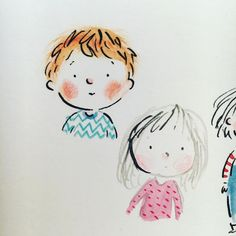 Little Boy Drawing, Cute Little Drawings, Baby Drawing, Cute Drawings, Children's Book Illustration, Watercolor Illustration, Art Challenge, Whimsical Art, Cartoon Drawings