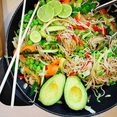 Vegetable Soba Noodle Stir Fry With Lime Dressing