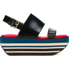 Marni 'Wedge in Techno Fabric' sandals