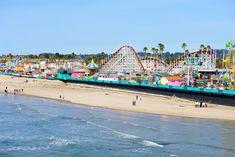 Santa Cruz Beach & Boardwalk, Santa Cruz - The 15 Best Beaches in California Travel + Leisure Amusement Parks In California, California Camping, California Vacation, Best California Beaches, California California, Barbados, Jamaica, Honduras, Trinidad