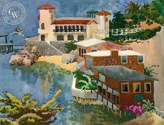 Tom Van Sant (1931-) - Laguna Beach Front, 1955