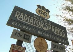 Welcome to Radiator Springs. Carsland Disney Ca. adventure CAN'T WAIT!