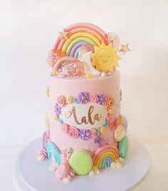 Girl Birthday, Birthday Ideas, Birthday Cake, Pastel Cakes, Rainbow Cupcakes, Lollipops, Sweet 16, Rainbow Colors, Bridal Shower