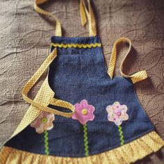 Fresh from the sewing machine! My new denim apron line will be launching soon! Super excited!