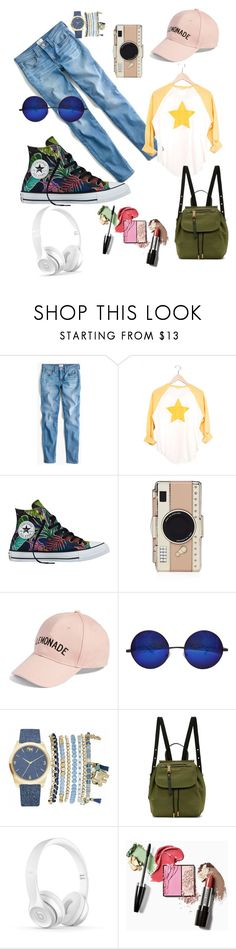 """""""Getting ready for Monday"""" by gamosefashion on Polyvore featuring J.Crew, Converse, Kate Spade, Amici Accessories, Mixit and Marc Jacobs"""