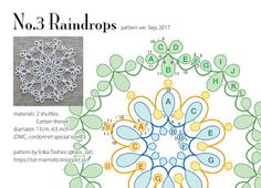 Shuttle Tatting Patterns, Needle Tatting Patterns, Doily Patterns, Crochet Patterns, Diy Crochet Jewelry, Needle Tatting Tutorial, Snowflake Pictures, Tatting Earrings, B 13