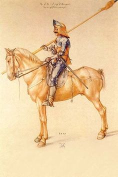 Rider in the armor . High quality vintage art reproduction by Buyenlarge. One of many rare and wonderful images brought forward in time. I hope they bring you pleasure each and every time you look at