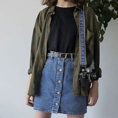 1 or - Mode - School Outfits Highschool Indie Outfits, Retro Outfits, Grunge Outfits, Trendy Outfits, Vintage Outfits, Cool Outfits, Summer Outfits, Plad Outfits, Grunge Clothes