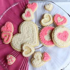 Heart Sugar Cookies #recipe #love #cookies