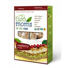 Two Moms In The Raw - Organic Gluten Free Cranberry Granola