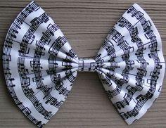 Big Music Note print hair bow for teens and women,big hair bow,fabric bow,bows for women,bows for teens,girls hair bows