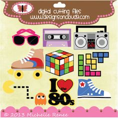 Designs on Cloud 9 Awesome 80s SVG and cutting files