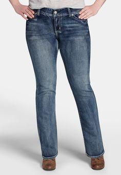 ellie plus size medium wash slim boot jeans From The Plus Size Fashion Community At www.VintageAndCurvy.com