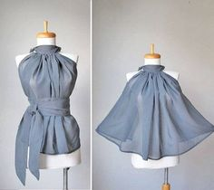 Le top demi-cercle - skirt refashion?