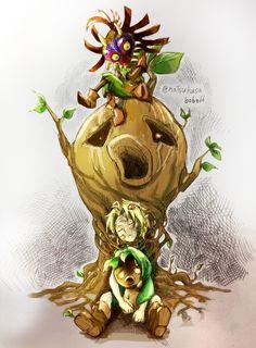 The Legend of Zelda: Majora's Mask / Link and Skull Kid / 「癒しのうたが届くまでは、」/「夏草 みかん」の漫画 [pixiv]