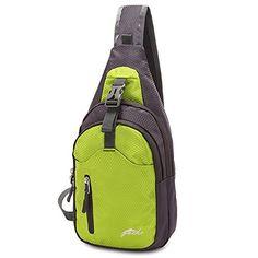 Gootium 21105 Canvas Sling Bag Chest Pack Unbalance Shoulder Backpack,Khaki