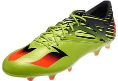 adidas Messi 15.1 FG Soccer Cleats - Solar Slime. Get it from www.soccerpro.com