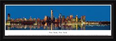 New York, New York Skyline Panorama Picture Framed