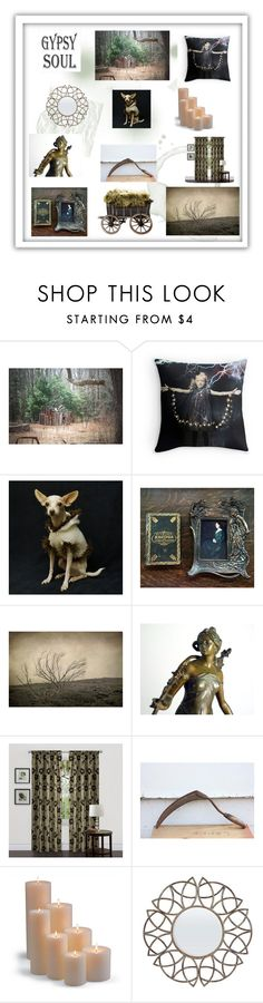 """""""Gypsy Soul"""" by mollysmuses ❤ liked on Polyvore featuring interior, interiors, interior design, home, home decor, interior decorating, Lush Décor and Frontgate"""