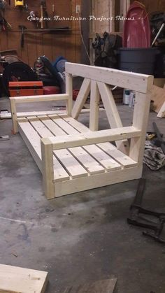 Farmhouse Front Porch Swing Wrought Iron Door, Doors W/ Iron Works Oper-able Glass Panel . , Ideas for main doo. Pallet Garden Furniture, Outdoor Garden Furniture, Furniture Projects, Furniture Decor, Wood Projects, Woodworking Projects, Woodworking Classes, Furniture Outlet, Discount Furniture