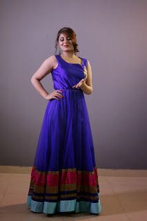 bLog (Navy blue ColoUr inDo westErn goWn)