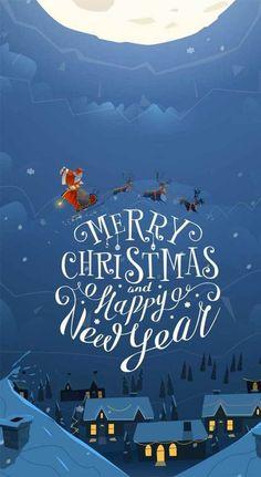 - iPhone wallpaper 39 beautiful Christmas illustrations, Christmas illustrations for free, Christmas -