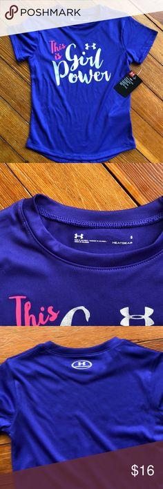 NWT Under Armour Girls Heat Gear T-Shirt NWT Under Armour Girls Heat Gear T-Shirt. Size 5. Wicking material. Under Armour Shirts & Tops Tees - Short Sleeve