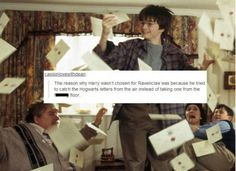 "This Ravenclaw gets pretty sassy about Harry. | 37 Times Tumblr Made You Re-Think Everything About ""Harry Potter"""