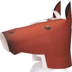 Canon Papercraft: Event Costumes - Life Size Horse Head Helmet Free Template Download