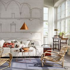 Discover wall mural design ideas on HOUSE - design, food and travel by House & Garden. Sandberg's new Arkiv collection celebrates the work of four eminent Swedish architects.