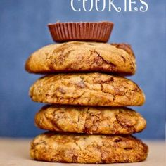 4 ingredient peanut butter cup cookies- these are so good!