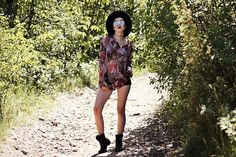 Get this look: http://lb.nu/look/8782857  More looks by Ewa Macherowska: http://lb.nu/evdaily  Items in this look:  Second Hand Blouse, H&M Shorts, Nn Boots, Tk Maxx Hat, Nn Sunglasses, Siy Choker   #bohemian #edgy #grunge #boho #bohovibes #boholook #bohogirl #bohostyle #summer