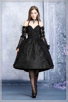 Encontre mais Vestidos Informações sobre Dw040bk brilhante gothic lolita vestido sem saia incluído, de alta qualidade vestidos leopardo, vestido de lábios China Fornecedores, Barato vestir-se de Ação de Graças de DARK IN LOVE em Aliexpress.com