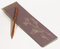 Hand Embroidered Japanese Notebook / Bamboo Plant