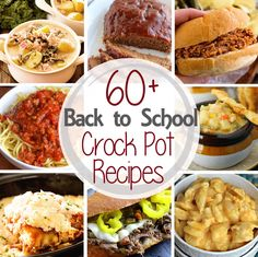 60+ Dinner Crock Pot Recipes ~ Tons of easy recipes perfect for any busy family when you need to get dinner on the table fast! ~ http://www.julieseatsandtreats.com