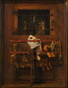 Samuel van Hoogstraten (1627  – 1678 ) Still Life with a Letter, 1651–1654, oil, canvas; 90×70.8 cm, acquired 1687, Olomouc Archbishopric – Archdiocesan Museum in Kroměříž