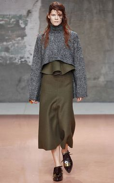 Cropped Wool-Blend Turtleneck Top by Marni Now Available on Moda Operandi