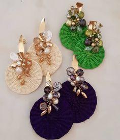 Jewelry Design Earrings, Gems Jewelry, Diy Jewelry, Jewelery, Handmade Jewelry, Jewelry Making, Soutache Jewelry, Beaded Jewelry, Bead Art