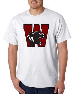 Unisex Heavy Weight Cotton T-Shirt (Gildan) - Watervliet Panthers Logo Maroon