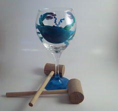 Blue Crab Wine Glasses