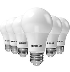 SunLabz Energy-Saving LED Light Bulbs  A19 Soft-White 60-Watt Equivalent E26 Socket Non-Dimmable Pack of 6