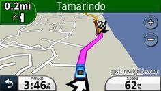 Costa Rica Garmin GPS Map Tamarindo driving directions. Costa Rica GPS map for Garmin nuvi and all Garmin navigation devices.