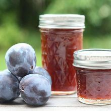 Damson Plum Jam - with just a hint of cinnamon, this is the perfect way to use your harvest. Plum Jelly Recipes, Damson Jam, Marmalade Jam, How To Make Jam, Jam And Jelly, Food Crafts, Canning Recipes, Jar, Force Feeding