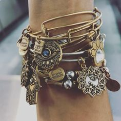 """Charms Jewelry Charmed arm stacked with a constellation! """"New Addition zodiac, constellation - Leo AlexandAni Alex and Ani...Checkout all the fall holiday collections @domainnorthside"""" : @ladichic - Powerful • Strong • Unique"""