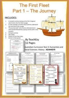 INCLUDESA research activity looking at the life in England which led to the… Primary Teaching, Teaching Activities, Educational Activities, Primary History, Teaching History, First Fleet, Aboriginal History, Mystery Of History, Australian Curriculum