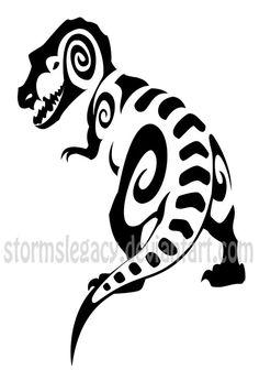tribal dinosaur tattoo - Buscar con Google