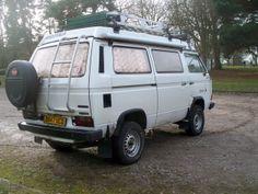 Image may have been reduced in size. Click image to view fullscreen. Volkswagen Westfalia, Vw Vanagon, T3 Camper, Campers, Vw Forum, Vw Vans, Van Camping, Roof Rack, Van Life